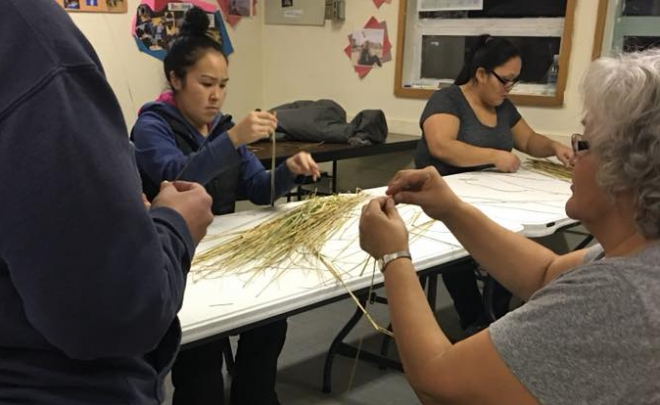 A Journey To What Matters and ASCA Partnership- ArtShops 2017 Kokhanok Grass Basket Class
