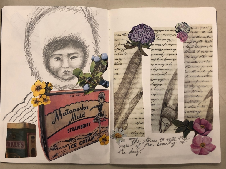 Danielle Larsen's 50s Alaskan packaging inspired sketchbook.