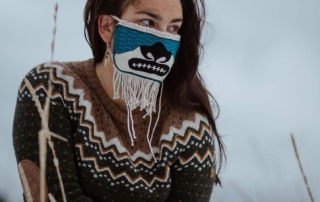 wearing chilkat masks